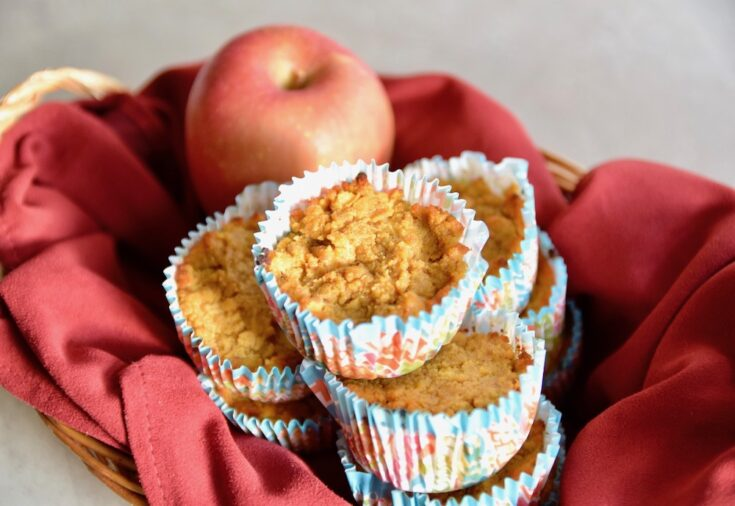 Paleo Pumpkin Apple Muffins {Grain Free, Nut Free}