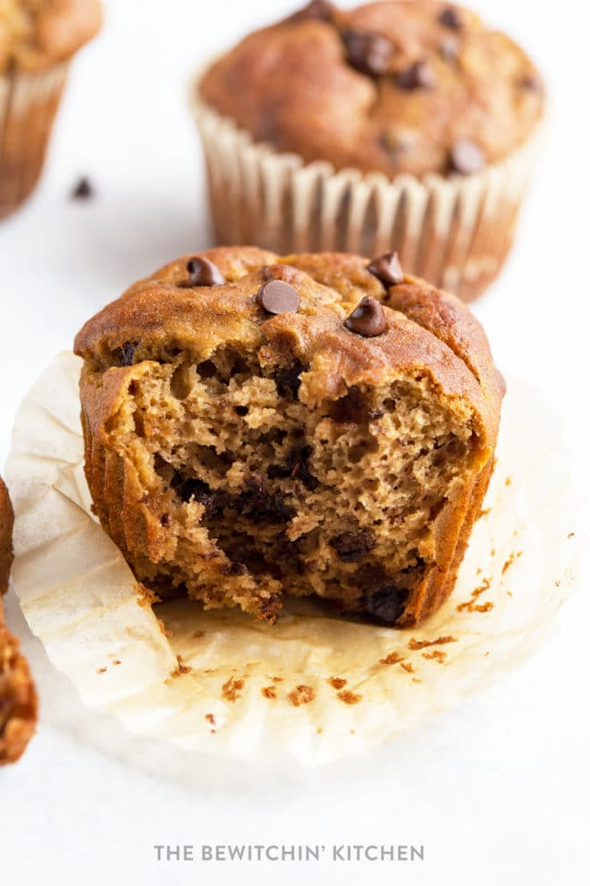 Gluten Free Banana Chocolate Chip Muffins | The Bewitchin' Kitchen
